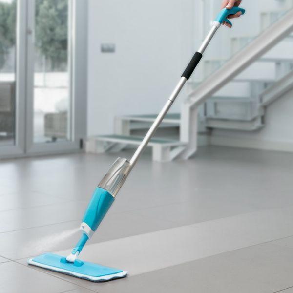 mop spray pulverizeaza apa direct din rezervor detasabil