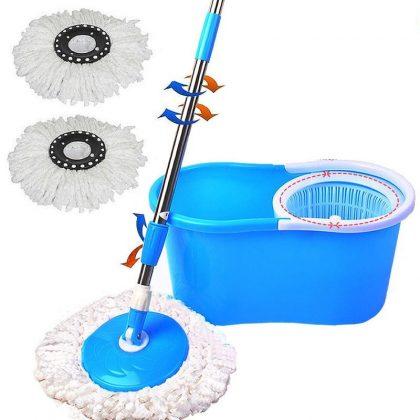Mop rotativ Easy Clean 360, set complet curățenie