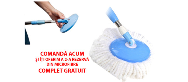 oferta mop rotativ plus o rezerva microfibre complet gratuit