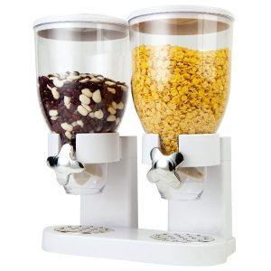 dozator dublu pentru cereale, capacitate totala 7 litri
