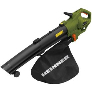 suflantă și aspirator de frunze, marca Heinner, 300W, sac de 45 litri